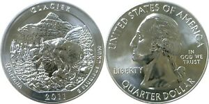 2011 AMERICA THE BEAUTIFUL GLACIER 5 OZ. SILVER QUARTER