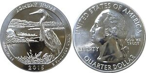 2015 AMERICA THE BEAUTIFUL BOMBAY HOOK 5 OZ. SILVER QUARTER