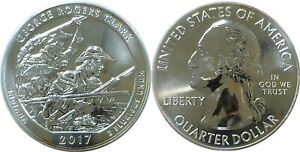 2017 AMERICA THE BEAUTIFUL GEORGE ROGERS CLARK 5 OZ. SILVER QUARTER