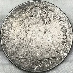 1854 10C SEATED LIBERTY DIME     GREAT LOOKING EARLY US TYPE COIN