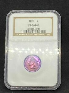Click now to see the BUY IT NOW Price! 1898 INDIAN HEAD CENT PENNY NGC PF 66 BN / PR 66 BN PROOF CERTIFIED
