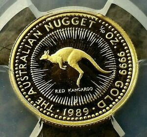 Click now to see the BUY IT NOW Price! 1989: PERTH MINT AUSTRALIAN NUGGET 1/10TH GOLD PROOF COIN 9999 . .