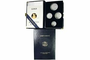 CAPS & COA  NO COINS  1990 AMERICAN EAGLE 4 GOLD BULLION COIN PROOF SET BOX ONLY