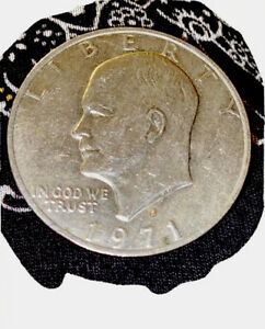 1971 40  SILVER D MINTED DOLLAR COIN