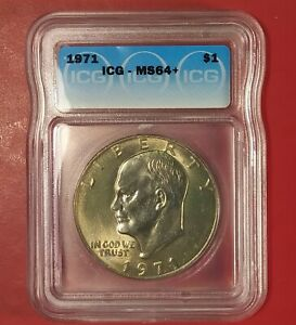 1971 MS64  EISENHOWER IKE DOLLAR CERTIFIED CHOICE   POPULATION 11