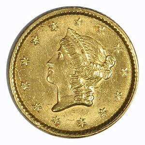 1853 $1 TYPE 1 GOLD LIBERTY   AU/UNC   BETTER DATE  PRICED RIGHT  INVA