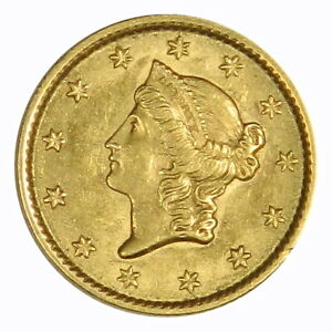1853 $1 TYPE 1 GOLD LIBERTY   AU/UNC   BETTER DATE  PRICED RIGHT  INVB