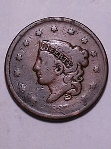1837 CORONET TYPE LARGE CENT  2