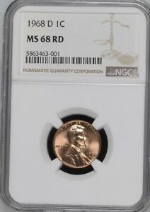 Click now to see the BUY IT NOW Price! 1968 D 1C RD MEMORIAL ONE CENT  NGC MS68RD              5863463 001