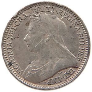 GREAT BRITAIN MAUNDY TWOPENCE 1894 VICTORIA T82 085