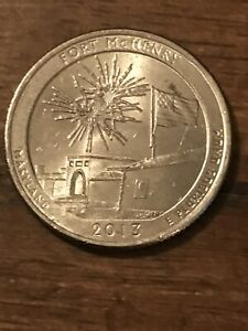 2013 P FORT MCHENRY NP AMERICA THE BEAUTIFUL QUARTER  917