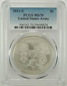 2011 S $1 MEDAL OF HONOR SILVER DOLLAR PCGS MS70 39698828  PCGS LABEL ERROR