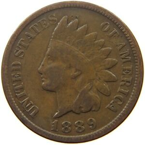 UNITED STATES CENT 1889 INDIAN HEAD S52 097
