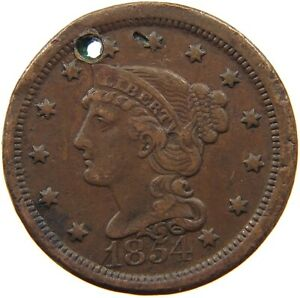 UNITED STATES LARGE CENT 1854 A07 331