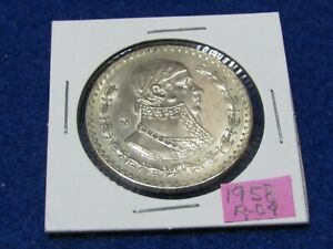 LARGE MEXICAN SILVER COIN 1958 MORELOS SILVER PESO  COMBINE SHIPPING SAVE $$$$