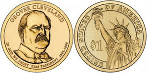 2012 D UNCIRCULATED GROVER CLEVELAND 1ST TERM PRESIDENTIAL DOLLAR