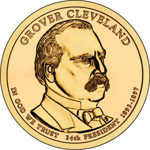 2012 D UNCIRCULATED GROVER CLEVELAND 2ND TERM PRESIDENTIAL DOLLAR