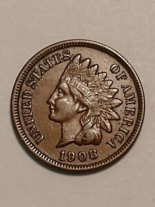 1908 UNITED STATES INDIAN HEAD CENT