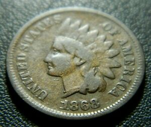 1868 INDIAN CENT 589