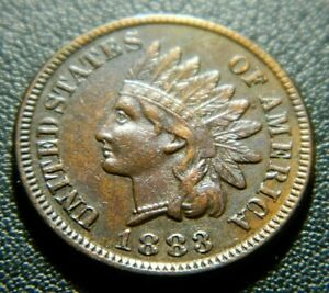 1883 INDIAN CENT 593