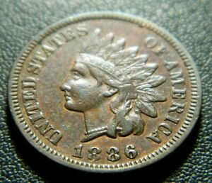 1886 INDIAN CENT 594