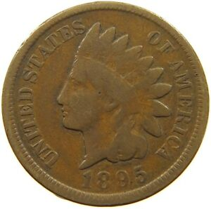 UNITED STATES CENT 1895 INDIAN HEAD A36 677