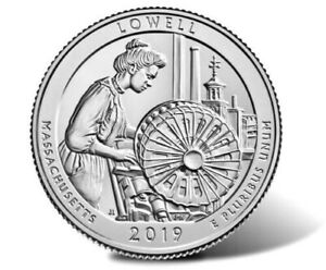 2019 W LOWELL MA QUARTER NATIONAL PARK WEST POINT 25 COIN