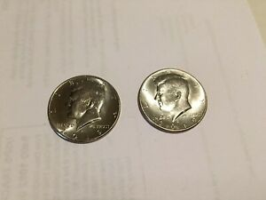 2019 P&D KENNEDY HALF DOLLARS KENEDY PD MINT ROLL CLAD 50 2 UNCIRCULATED COINS