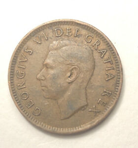 1952 CANADA 1 CENT COIN CANADIAN PENNY