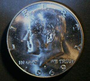 1969 D KENNEDY HALF DOLLAR 40  SILVER FROM UNCIRCULATED US MINT ROLL