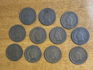 1887 1888 1892 1895 1896 1897 1898 1899 1900 1901 1903 1904 INDIAN HEAD CENT LOT
