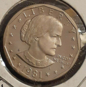 1981 S PROOF SUSAN B. ANTHONY DOLLAR COIN