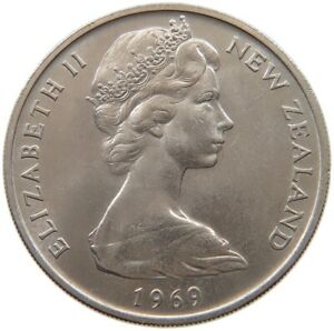 NEW ZEALAND 20 CENTS 1969 TOP S61 161