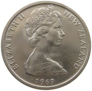 NEW ZEALAND 50 CENTS 1969 TOP S61 189