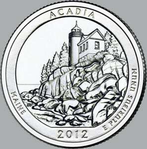 2012 UNCIRCULATED P & D ACADIA NATIONAL PARK QUARTERS