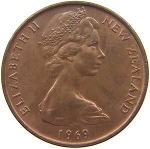 NEW ZEALAND 2 CENTS 1969 TOP S62 273