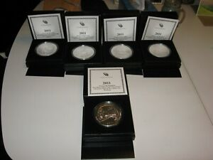 Click now to see the BUY IT NOW Price! 2011 AMERICA THE BEAUTIFUL 5 OZ SILVER COINS  2 OF EACH 5 SETS  10 SETS