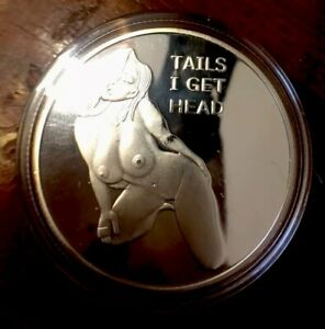 FAMOUS LADY LUCK FLIP COIN NOT MANY TO BE FOUND. BU CAMEO PROOF  DOLLAR SIZE