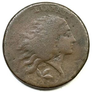 1793 S 6 R 3 WREATH LARGE CENT COIN 1C