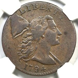 1794 S 21 R 3 NGC VF 30 HEAD OF 94 LIBERTY CAP LARGE CENT COIN 1C