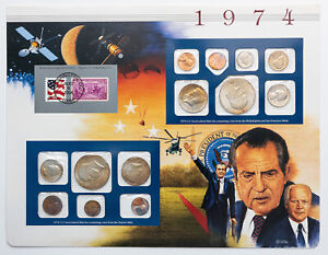 Click now to see the BUY IT NOW Price! 1974 P&D U.S MINT SET NIXON RESIGNS THE PRESIDENCY BEAUTIFUL COLOR TONED COINS