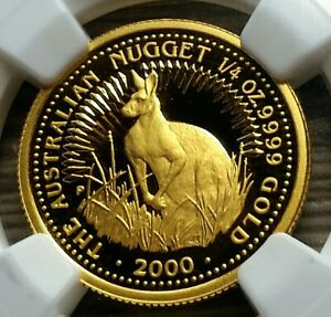 Click now to see the BUY IT NOW Price! 2000 PERTH MINT 1/4OZ GOLD PROOF COIN 9999  PF69   309 MINTED $25 COIN.