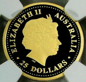 Click now to see the BUY IT NOW Price! 2003 PERTH MINT 1/4OZ GOLD PROOF ROO 9999   PF70 ULTRA CAMEO. 572 MINTED.