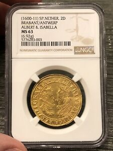 Click now to see the BUY IT NOW Price! SPANISH NETHERLANDS GOLD  DOUBLE DUCAT. NGC MS63    1600 1611 ..  QUALITY
