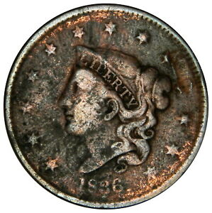 1836 LARGE CENT   FINE   PRICED RIGHT