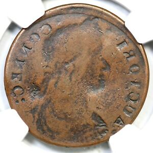 1787  31.1 PATRICK NGC VF DETAILS OBV BROCKAGE CONNECTICUT COLONIAL COPPER