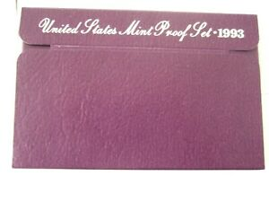 1993 S UNITED STATE MINT PROOF 6 COIN SET W/ BOX AND COA