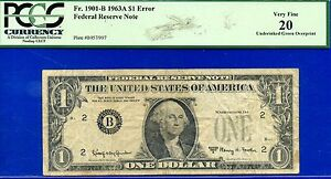 Click now to see the BUY IT NOW Price! 1963 A $1 FRN    ERROR NOTE      MISSING SEAL & SERIAL NUMBERS     PCGS VF 20.