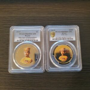 Click now to see the BUY IT NOW Price! BRUNEI 2014 1OZ GOLD & SILVER  COIN 30TH INDEPENDENCE ANNIVERSARY PCGS PF 68