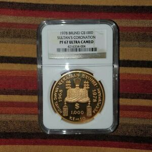 Click now to see the BUY IT NOW Price! 1978 BRUNEI GOLD 1000 DOLLARS SULTAN HASSANAL BOLKIA NGC PF 67 ULTRA CAMEO